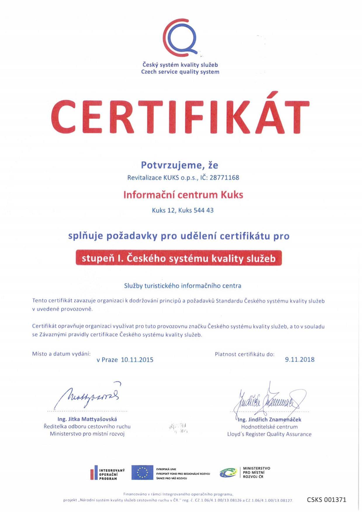 Certifikat CSKS